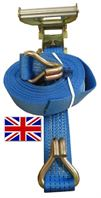 UK Manufactured 5 Tonne Ratchet Strap with Claw Hooks