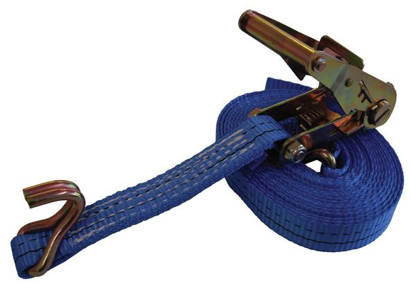 1000Kg Ratchet Strap with 25mm Webbing and Claw Hooks